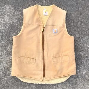 Vintage Carhartt Sherpa Fleece Lined Vest - Warm!